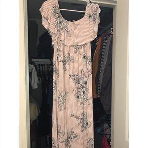 Pinkblush pink floral maxi maternity dress